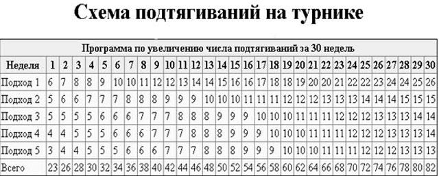 открыл таблица подтягиваний на турнике до 100 раз индекс, Украина