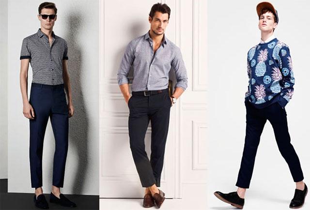 мужчине не подойдут укороченные брюки