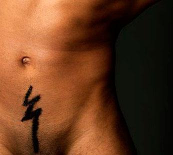 Интимные стрижка мужская